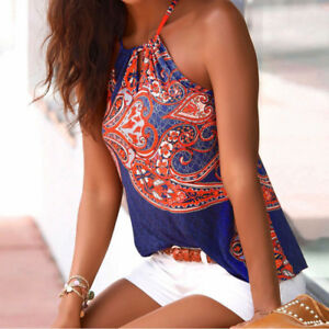 Womens-Floral-Summer-Strappy-Vest-Top-Sleeveless-Shirt-Blouse-Casual-Tank-Tops