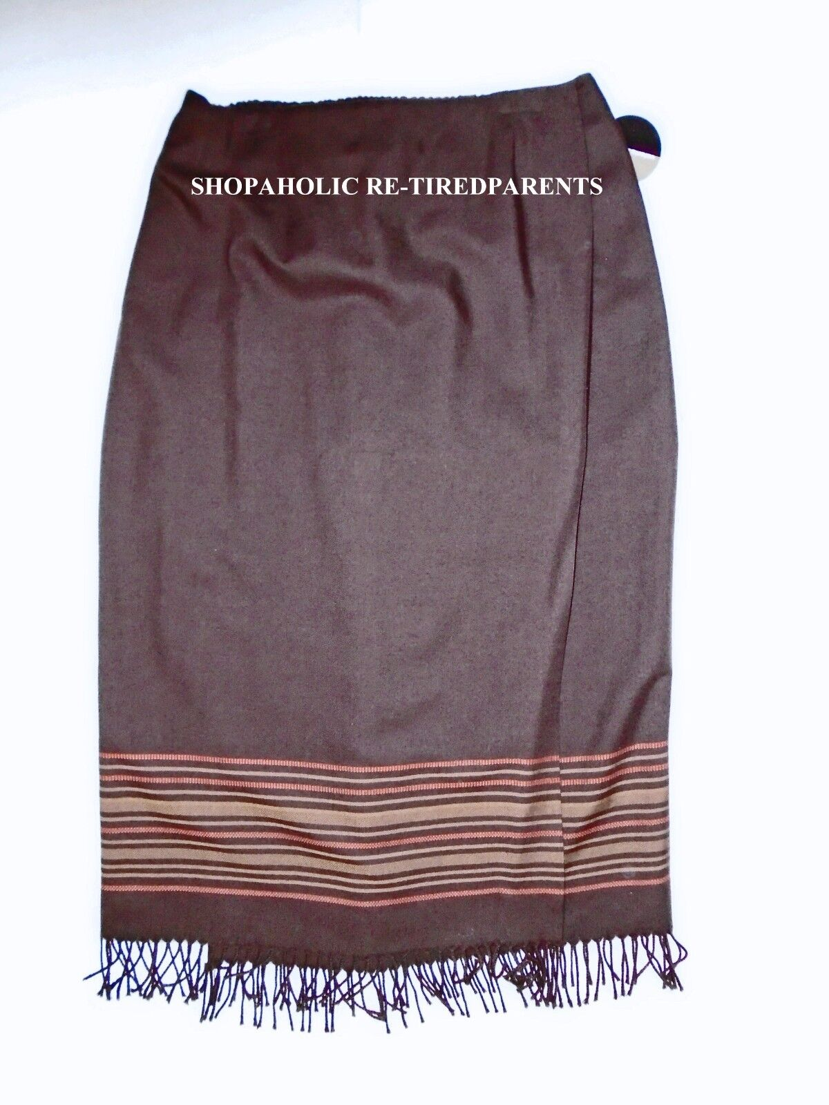 VALERIE STEVENS WOMAN – WRAP SKIRT – BROWN – SOFT WOOLMARK WOOL –SZ 18W -NWT  79