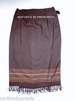 Valerie Stevens Woman – Wrap Skirt – Brown – Soft Woolmark Wool –sz 18w -nwt $79