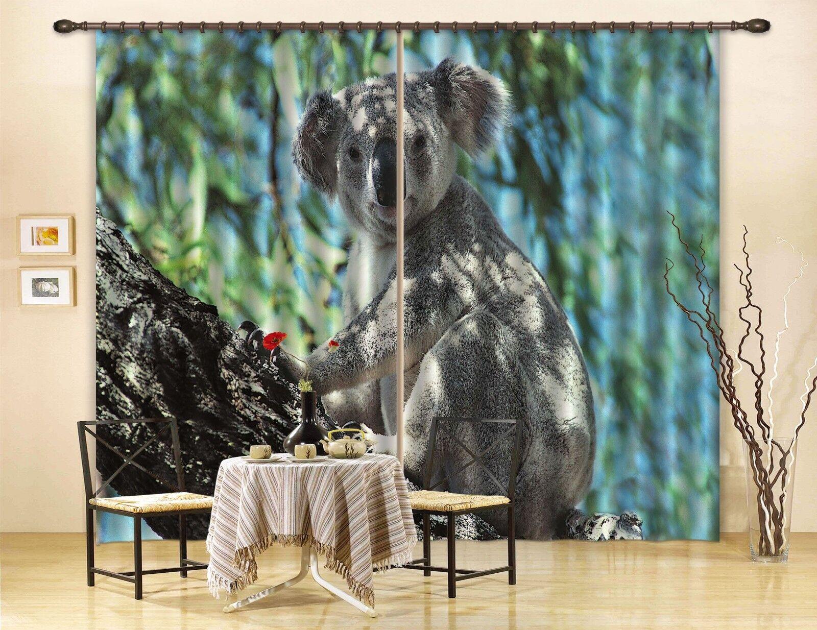 Cortina De Foto 3D Koala Animal Blockout Impresión Cortinas Cortinas Ventana De Tela CA