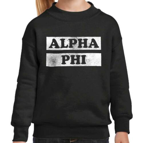 Official Alpha Phi Sorority Pride Greek Life Girls Youth Crewneck Sweatshirts