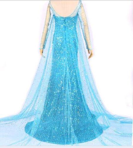 Frozen Queen ELSA Adult Ladies Dress Cosplay XMAS Evening Party Fancy Costume