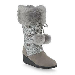 Canyon-River-Blues-Girl-039-s-Remi-Gray-Wedge-Mid-Calf-Fashion-Boot-Various-Sizes