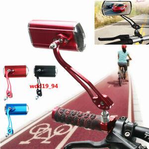 2Pcs Bicycle Bike Cycling Handlebar Rear View Rearview Mirror Rectangle Back