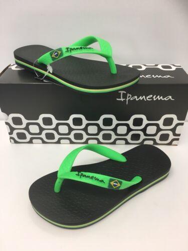 Ipanema Boys Classic Brazil Flip Flop in Green /& Black 80416