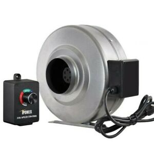 "iPower 4"" Inline Duct Ventilation Fan & Variable Speed ..."
