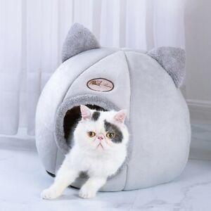 Pet-Dog-Cat-Tent-House-Kennel-Winter-Warm-Nest-Soft-Foldable-Sleeping-Mat-Pad-CA