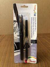 GFKP3BPA Pentel Arts Pocket Brush Pen 2 Pack Includes 2 Black Ink Refills