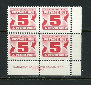 X362-Canada-1969-5c-Postage-Due-PERF-12-block-of-4-MNH
