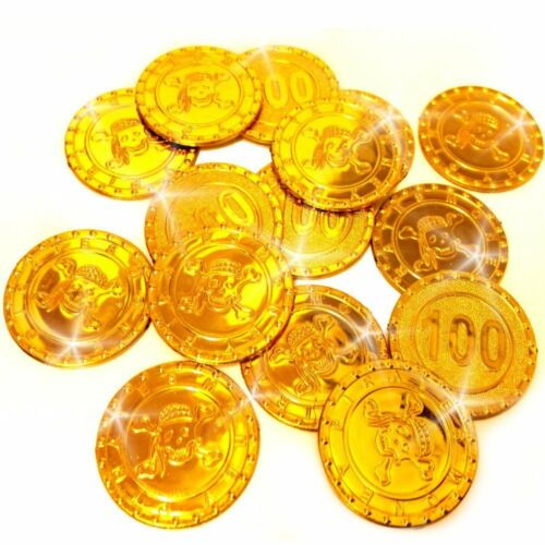 20 x Goldmünzen für die Piraten PartySchatzsuche German Trendseller®