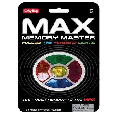 MAX MEMORY GAME Simon Says Handheld ELECTRONIC GAME Lights Sound Travel Portable