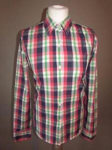 JACK-WILLS-Ladies-Pink-Blue-White-Green-Check-Cotton-Shirt-Blouse-Size-10-VGC