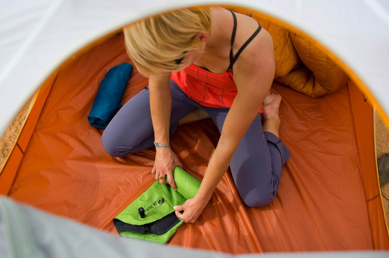 CERTIFIED REFURBISHED KLYMIT Static V Sleeping Pad GREEN Lightweight Camping