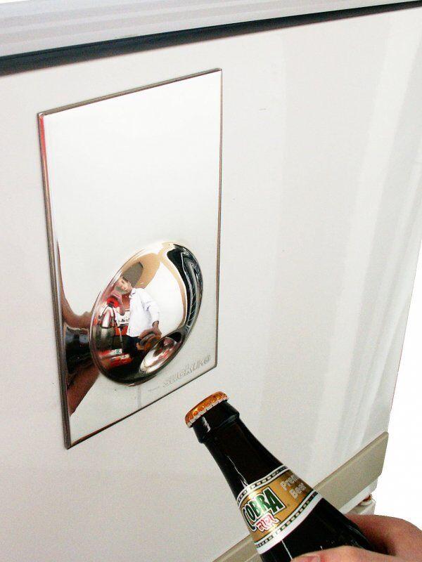Ouvre-bouteille avec magnetfür Réfrigérateur Porte, Cuisinière, etc. Réfrigérateur Magnétique Design