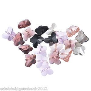 30-Mix-Schmetterling-Glasperlen-Beads-15x12mm-fuer-Halskette