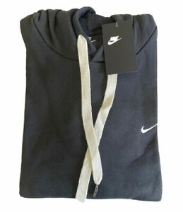 Nike Mens Hoodie Pullover Athletic Embroidered Swoosh Logo Fleece Sweater New