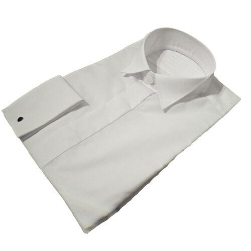 """19.5/"""" NUOVO Uomo Qualità Colletto Ala Camicie abito bianco tg 14/"""""""