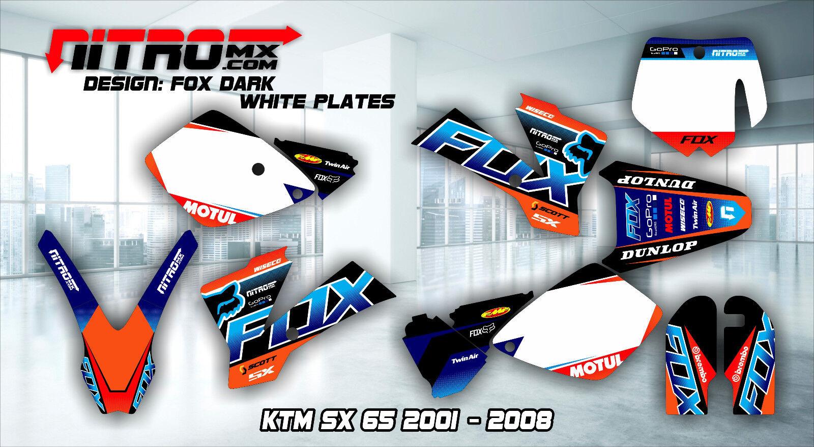 NitroMX Graphic Kit for KTM SX 65 SX65 2001 2002 2003 2004 2005 2006 2007 2008