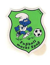 Schlümpfe Fußballschlumpf - Aufkleber Sticker - Sammlerstück aus den 80er Jahren