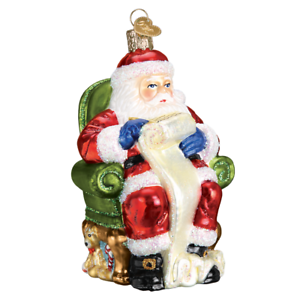 034-Santa-Checking-His-List-034-40300-X-Old-World-Christmas-Glass-Ornament-w-Box