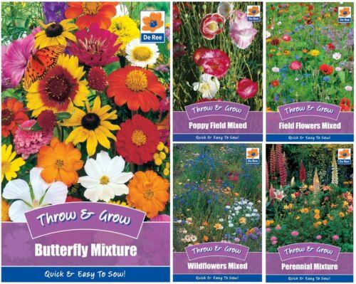 De Ree Throw /& Grow Gardens /& Outdoors Mixed Flower Seeds