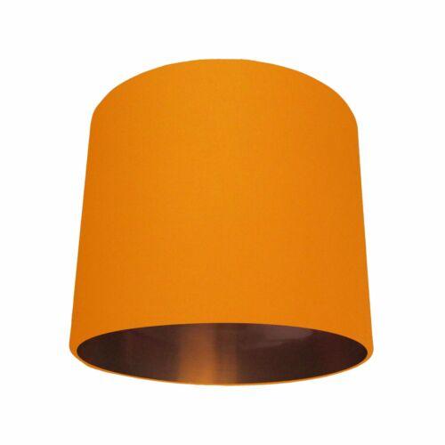 Lampshade Orange Cotton Brushed Copper Lining Lightshade Metallic