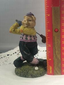 Vintage Originals Artmark Golfing Pig
