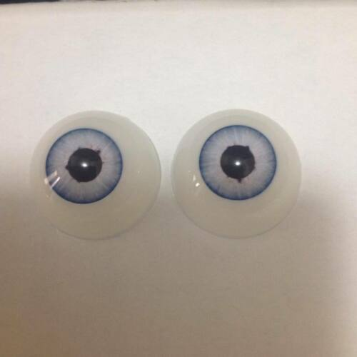 """Pabol  18 MM Larger Pupil /""""Comet Blue/"""" Doll Eyes 1//2 round Acrylic /&FAST SHIPPIN"""