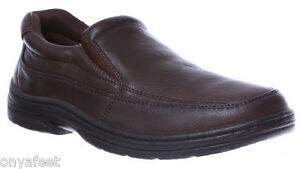 NEW-Mens-Grosby-Brent-GA-Brown-Dress-FORMAL-CASUAL-WORK-SLIP-ON-SHOES-CHEAP