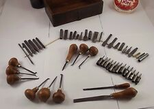 Lot of antique Engraving Tools Jeweler, Gunsmith, Clock Maker, Repousse french