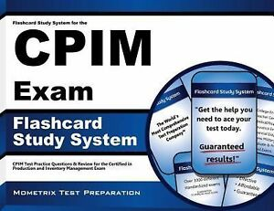 Flashcard Study System for the CPIM Exam : CPIM Test Practice Questions and  Review for the Certified in Production and Inventory Management Exam