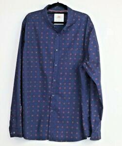 Maxx-Men-039-s-Blue-Long-Sleeve-Button-Down-Shirt-Size-XXXL