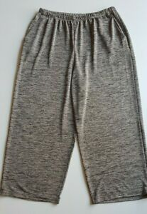 MY-SIZE-Grey-Cream-Marle-Stretch-Knit-Wide-Legged-Pants-Size-M