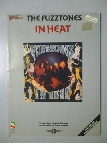 FUZZTONES Songbook IN HEAT Sheet Music GUITAR TAB 12 songs with Color Poster