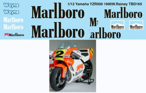 1//12 YAMAHA YZR500 1990 WAYNE RAINEY  DECALS TB DECAL TBD165