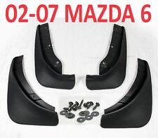 FIT FOR MAZDA 6 i SEDAN 2002-2007 MUD FLAP FLAPS SPLASH GUARDs MUDGUARDS 2008