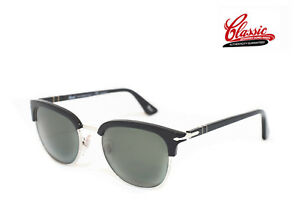 59c1f8c9e8 PERSOL SUNGLASSES PO3105S 95 58 Black Silver Frame 51mm POLARIZED ...