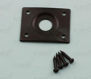 Guitar-square-jack-plate-HJ005-black-with-screws