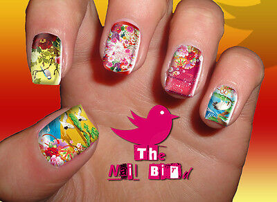 Nail Art Nail Decals Nail Transfers Nail Wraps - JAPANESE FLOWERS & BIRDS Decals