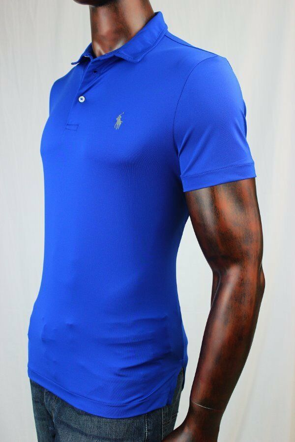 POLO Sport Ralph Lauren Performance  Sapphire Star  bluee Polo Shirt NWT