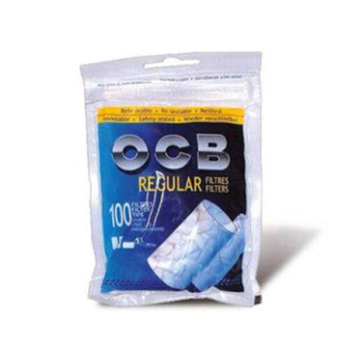 8mm 100x Baumwollfilter für Rolltabak OCB Regular