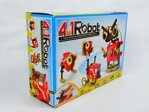 STEM-4-in-1-Educational-Motorised-Robot-Kit-Ages-8-BRAND-NEW-SEALED