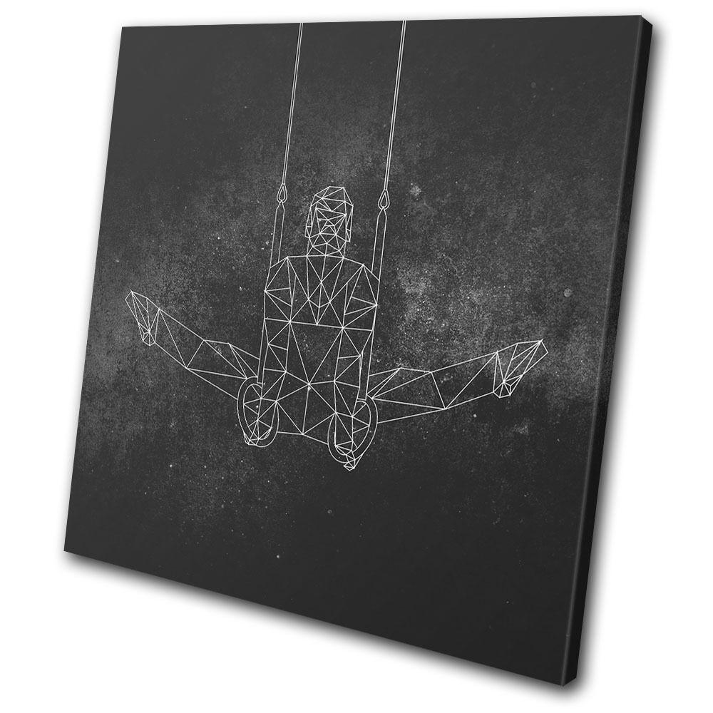 Geometric Abstract Gymnast ART Sports SINGLE TOILE murale ART Gymnast Photo Print 7de577