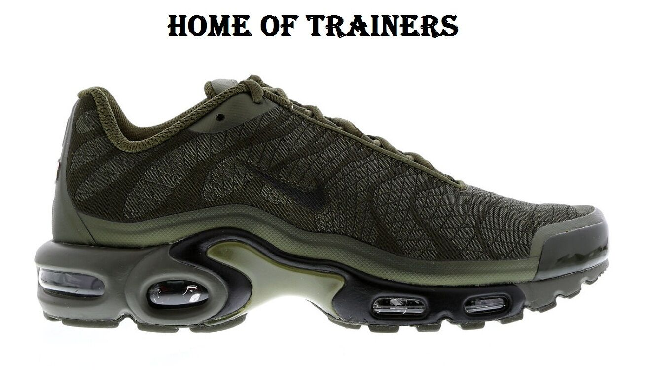 """Nike Air Max """"Olive Plus Tuned 1 Tn """"Olive Max Green"""" For homme & Femme All Tailles 048815"""