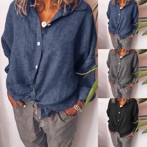 ZANZEA-Women-Long-Sleeve-Cotton-Linen-Kaftan-Ladies-Baggy-Blouse-Tee-Shirt-Tops