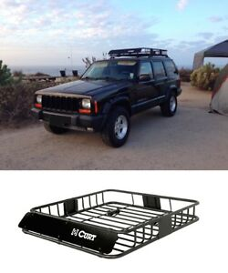 Image is loading CURT-18115-Roof-Mounted-Cargo-Rack-Safari-Travel-
