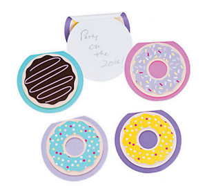 Pack of 12 - Doughnut Notepads - Sweet Party Bags Favours Fillers