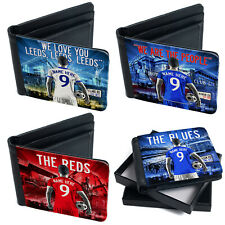 Football Wallet Mens Bi Fold Coin Card Holder Personalised Gift - All Teams AF