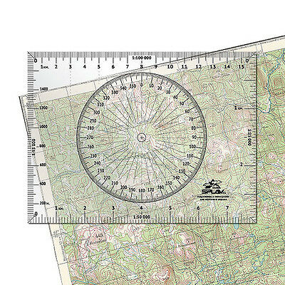 Map Metric Ruler Sports Orienteering Measuring Tool Scouts Hiking Compass Azimut