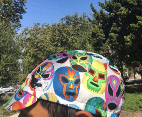 CYCLING CAP MASCARAS 100/% COTTON PRINT ONE SIZE HANDMADE